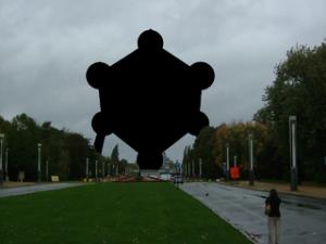 Het Atomium in Brussel: tot 2076 gecensureerd.