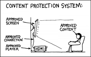 'Content Protection'. Bron: xkcd.com