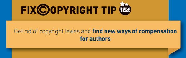 Fix copyright tip: schaf de thuiskopieheffing af en ga op zoek naar betere manieren om auteurs te compenseren.