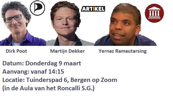 Verkiezingsdebat met Dirk Poot @ Aula Roncalli S.G.   Bergen op Zoom   Noord-Brabant   Nederland