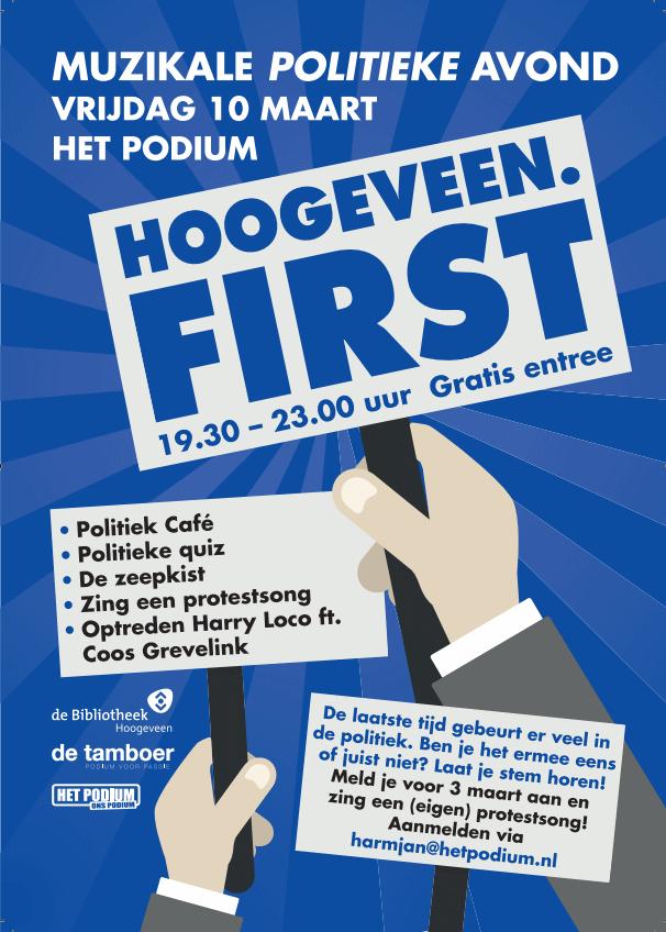 Protestsong 2.0 en politiek (jongeren)café met Rico Brouwer @ Het Podium   Hoogeveen   Drenthe   Nederland