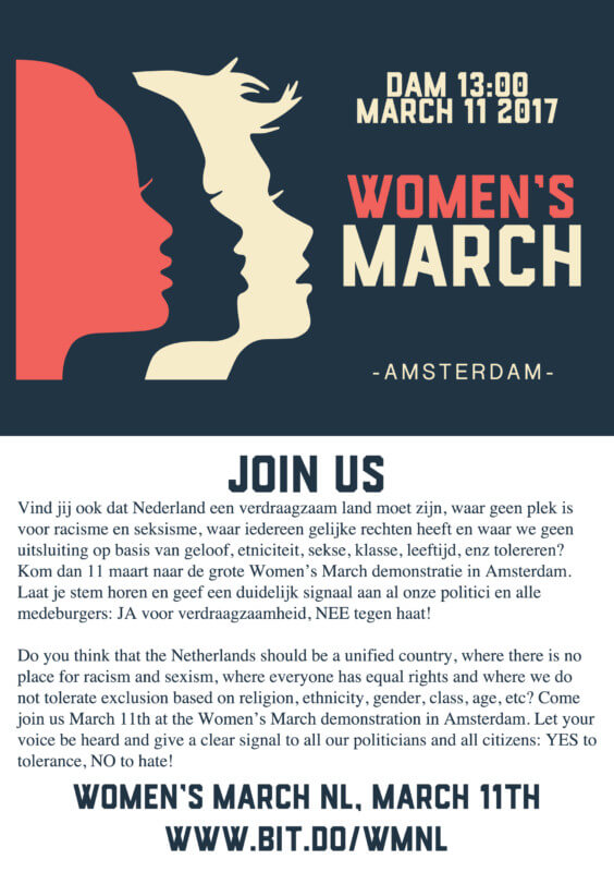 Women's March Amsterdam @ Dam   Amsterdam   Nederland