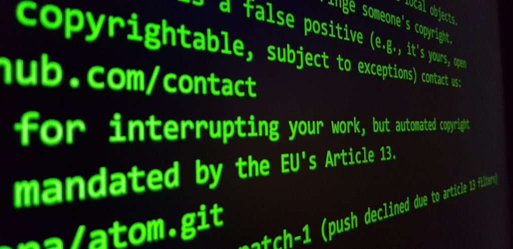 EU Copyright Directive Article 13 Censorship Machine
