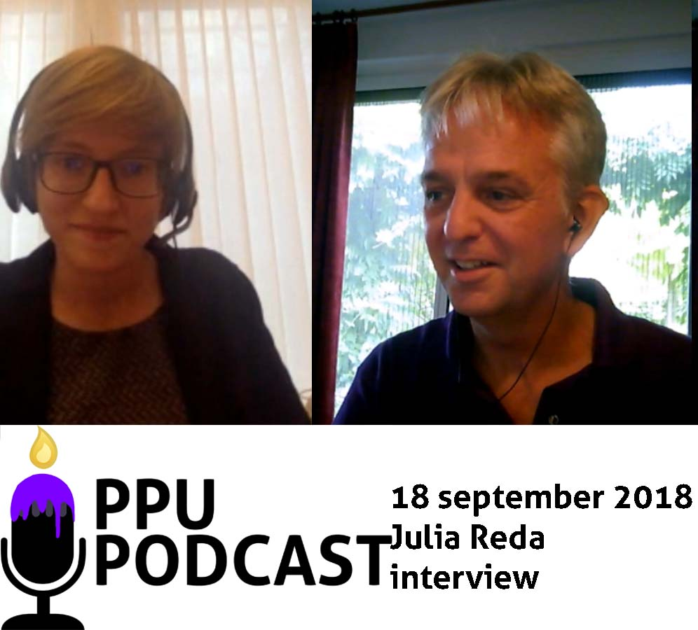 PPU Podcast 18 september 2018 Julia Reda interview
