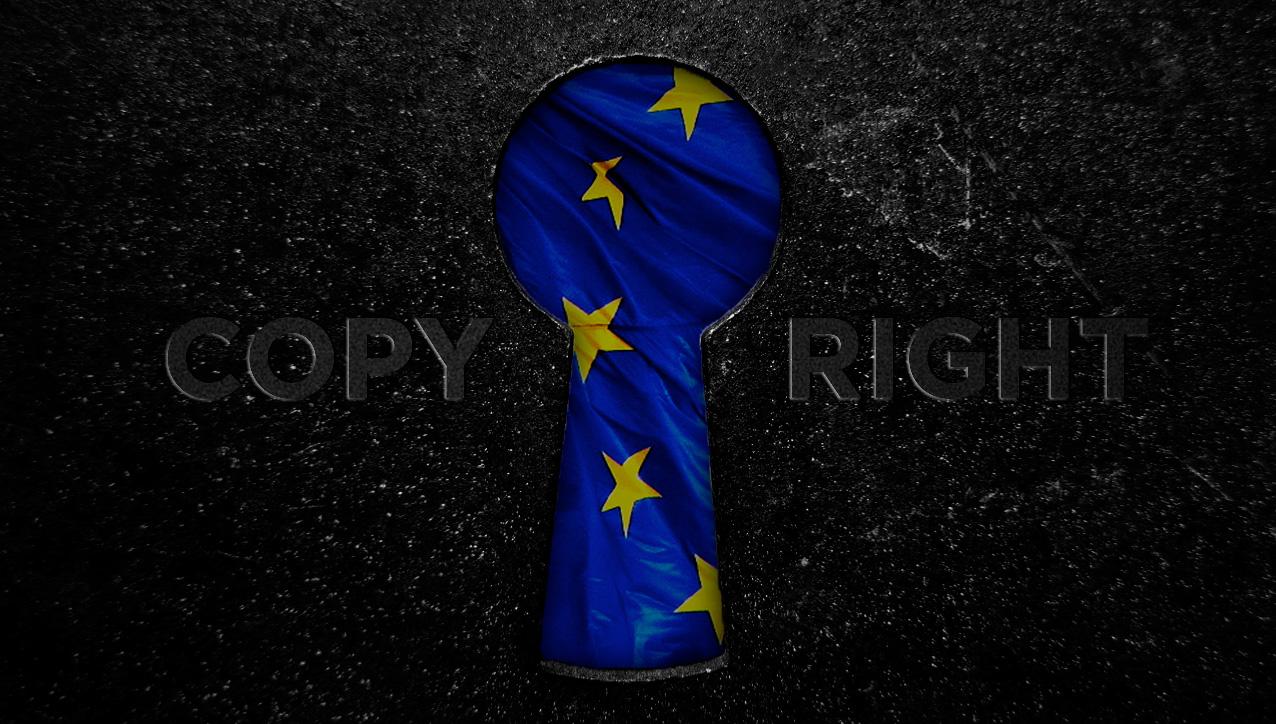 Sleutelgat met EU vlag