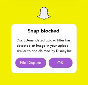 Snapchat error