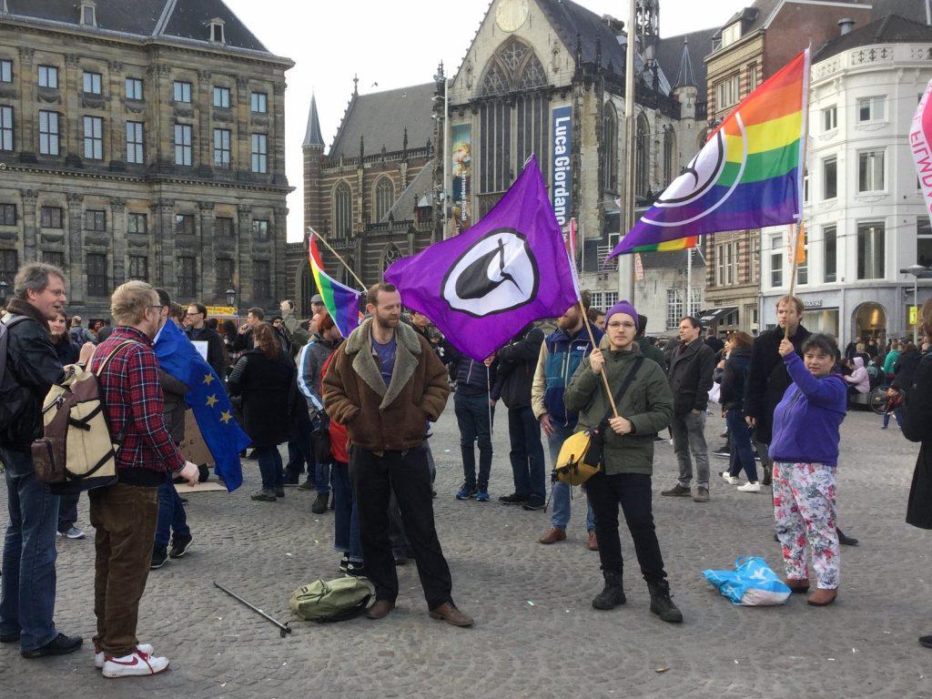 Demonstratie op de Dam te Amsterdam 2019-03-23