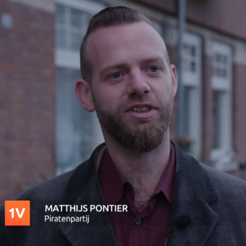 Matthijs Pontier (Piratenpartij) in EenVandaag