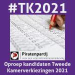 Oproep Piratenpartij TK2021