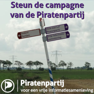 Piratenpartij campagne